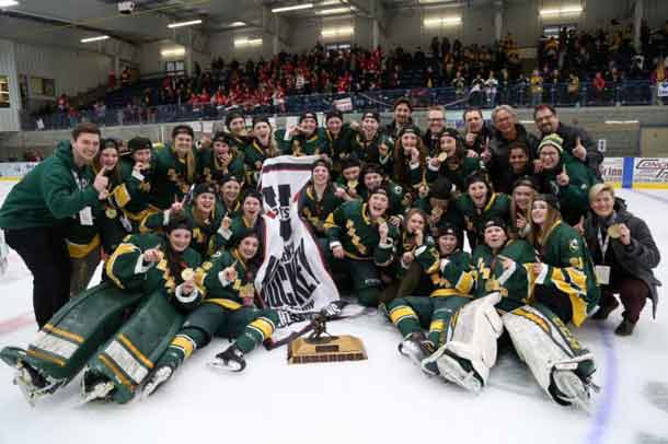 The Alberta Pandas are the 2016-2017 Women's Hockey Champs