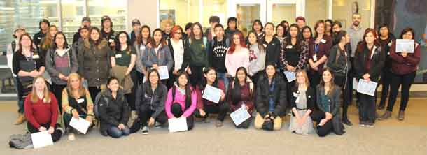 Indigenous students had a special sneak-peak into the many different health care career options