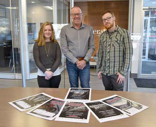 Generator has been a part of the Tbaytel Motorcycle Ride for Dad, presented by WINMAR for 17 years, designing the brand and visual identity that's helped maintain the event's momentum. Pictured here, from Generator, are Amanda Phillips, Senior Graphic Designer and Art Director; Barry Smith, Creative Director and Owner; and Jordan Danielsson, Graphic Designer.