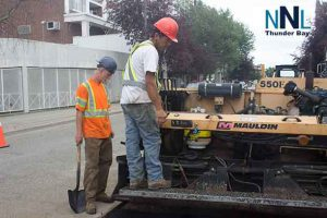 Road Repair in Thunder Bay Ontario on Brodie Street South