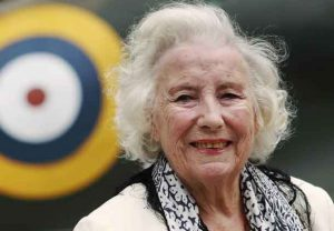 Second World War British Forces Sweetheart Vera Lynn attends the Battle of Britain commemoration outside the Churchill War Rooms in London August 20, 2010. REUTERS/Luke MacGregor