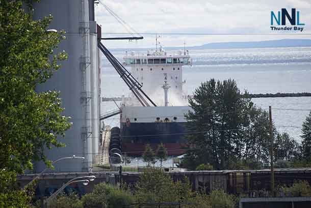 The Algoma Equinox loading grain at the Richardson Elevator - September 17 2017