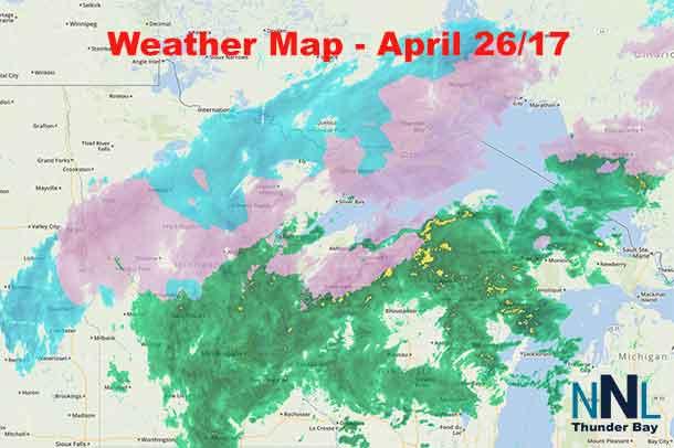 Thunder Bay Michigan Map.Netnewsledger April 26 17 Freezing Rain Warning Remains For