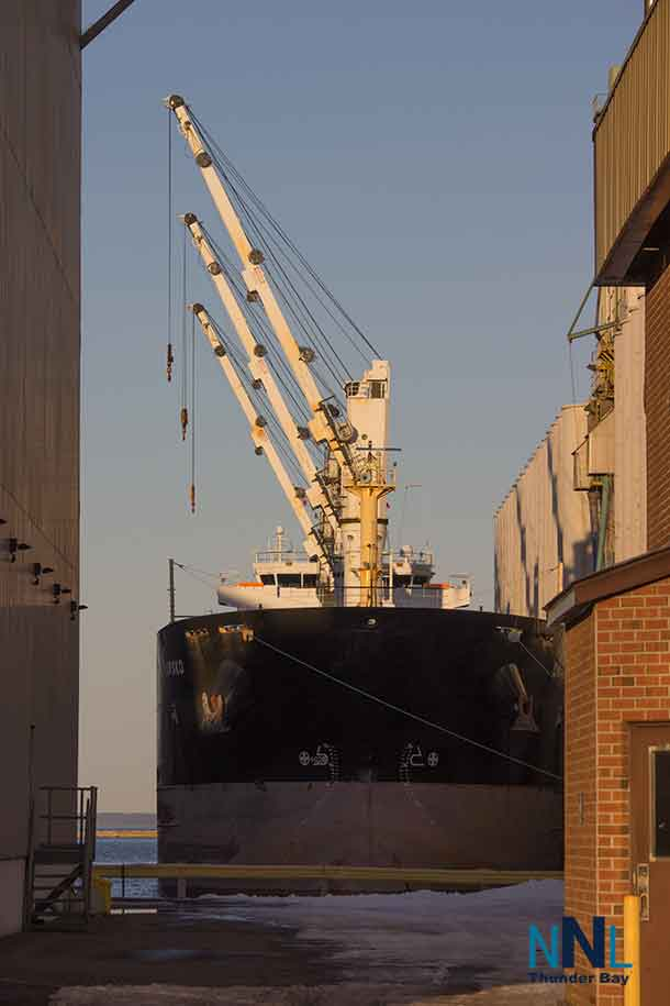 The Drawsko - Registered in the Bahamas - 190m × 23.76m - Shot April 29 2017 at Canada Malting in Thunder Bay