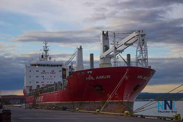 The HHL Amur at Keefer Terminal