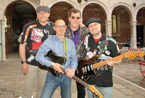 hoto by Xavier Kataquapit Lee ëLeonbassí Holmes and the Beautitones are performing in the historic city of Venice, Italy this April and May. Pictured are band members from L-R: Massimo Prosdocimo, drums; Bruno Natural, guitar; Holmes, bass and lead singer and Marco Bolognini, guitar.