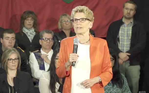 Premier Wynne in Hamilton making the Basic Income pilot project announcement