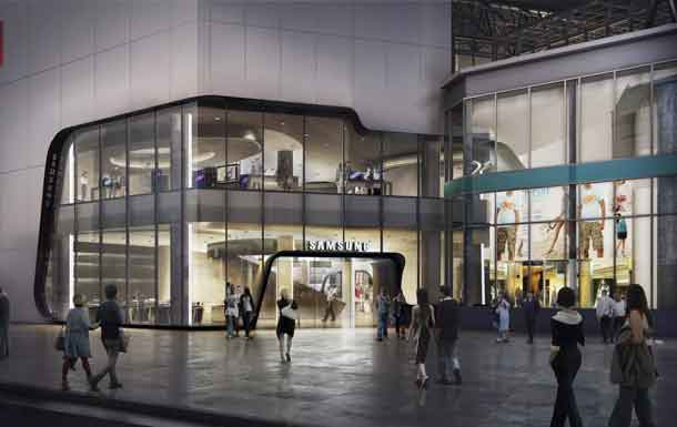 Arriving Summer 2017 at CF Toronto Eaton Centre, the two-level, 21,000 sq. ft. Samsung Experience Store facing Yonge-Dundas Square will bring the Samsung ecosystem to life (Samsung Electronics Canada)