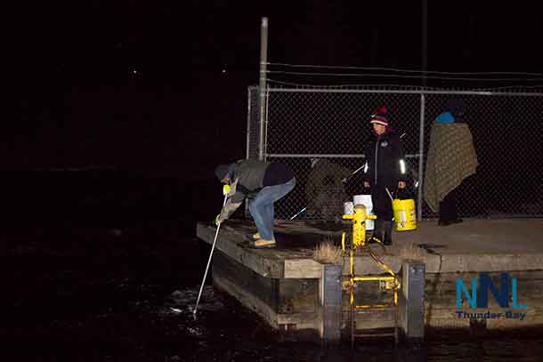 The fishing docks along the Current River were busy with fishers out harvesting smelts