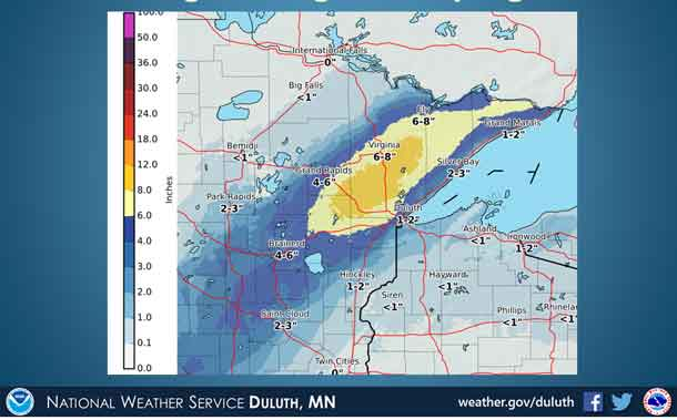 The National Weather Service is reporting a Late Season Winter Storm will impact Minnesota
