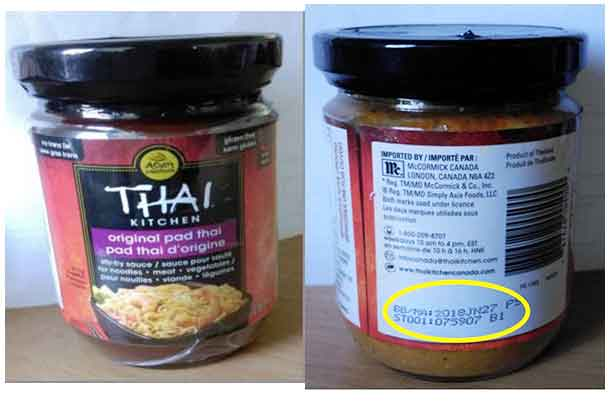 Voluntary Recall of Thai Pad Kitchen Stir Fry Sauce due to undeclared peanuts