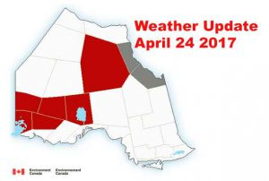 Winter Storm Warnings are posted for parts of Northwestern Ontario