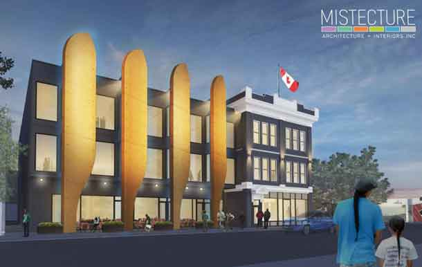 Architect's rendering of the Merchants Corner development on Selkirk Avenue.