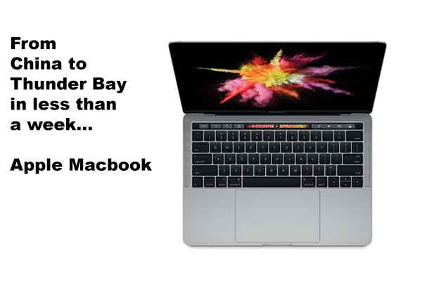 Apple MacBook Pro will ship from China to your doorstep in less than a week