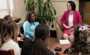 Minister Larivee discusses proposed changes to Alberta's child intervention system with social work students