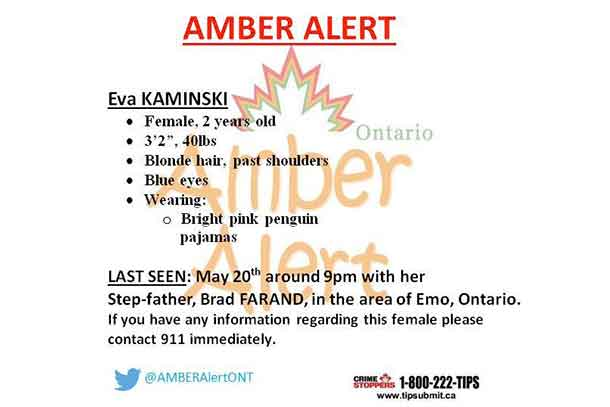 Amber Alert issued for abducted 2-year-old