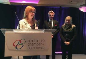 Thunder Bay Chamber of Commerce President Charla Robinson Received the J Carnegie Award