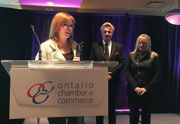 Thunder Bay Chamber of Commerce President Charla Robinson Received the J Carnegie Award