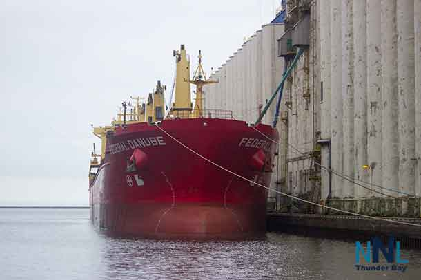 The Federal Danube loading in Thunder Bay Ontario