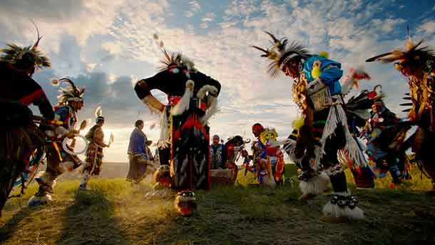 Indigenous tourism experience at Horsethief Canyon in the Canadian Badlands