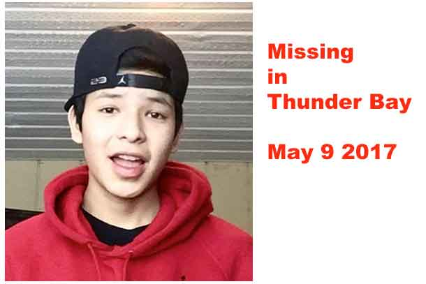 If you have seen Josiah, please call Thunder Bay Police at (807) 684-1200.