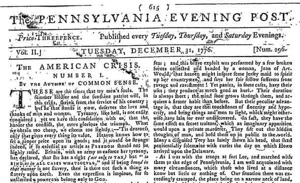 netnewsledger - pennsylvania evening post: first daily paper in the u.s.