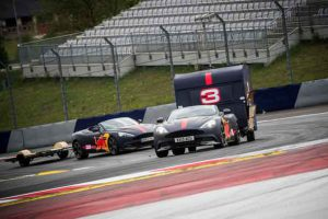 Max Verstappen and Daniel Ricciardo compete with caravans in Spielberg, Austria on May 17, 2017 // Samo Vidic/Red Bull Content Pool // For more content, pictures and videos like this please go to www.redbullcontentpool.com