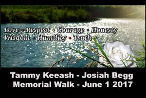Memorial Walk is planned for June 1 2017 from Thunder Bay City Hall to the Thunder Bay Police Service Balmoral Street Headquarters