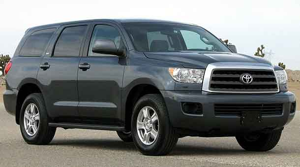 Toyota Sequoia is the vehicle that Police say was the suspect's vehicle