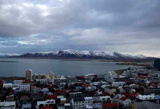 A general view shows the city of Reykjavik seen from Hallgrimskirkja church, Iceland February 13, 2013. REUTERS/Stoyan Nenov/File Photo