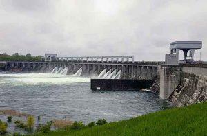 Long Sault Dam on 22 May 2017 - Image International Lake Ontario - St Lawrence River Board