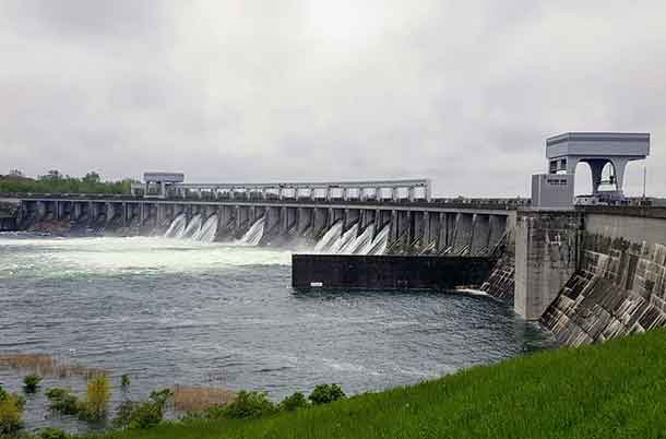 Long Sault Dam on 22 May 2017 - Image International Lake Ontario - St Lawrence River Board