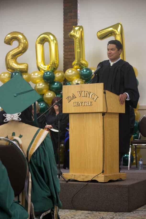 NAN Deputy Grand Chief Derek Fox shares words of wisdom with the graduates