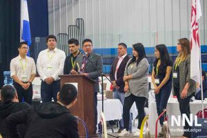 Nishnawbe Aski Grand Chief Alvin Fiddler leads the NAN Youth Council in a discussion folliwing the news that yet another Indigenous youth had committed suicide.