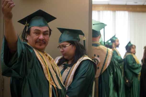 Oshki Graduates Get Ready to celebrate their achievement.