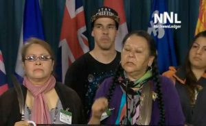 Spokespersons in Ottawa speaking out on the real issues facing Indigenous people in Canada