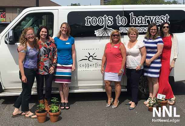 Roots to Harvest Crew with new Van donated by Copperfin Credit Union