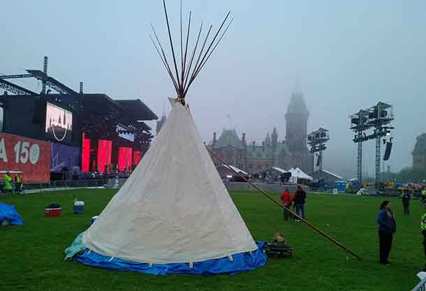 The Teepee on Parliament Hill