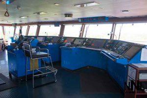 The bridge onboard the Algoma Equinox