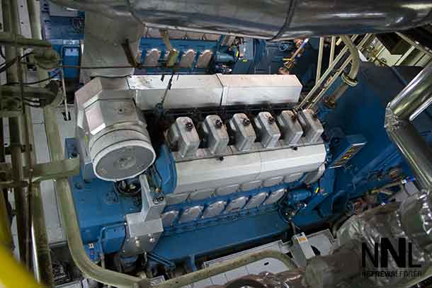 Engine on the Algoma Equinox
