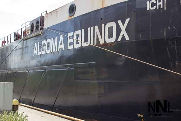 Algoma Equinox - about twenty feet up from the dock