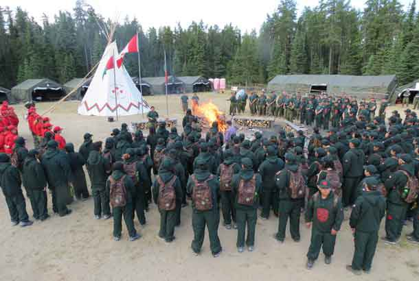 Junior Canadian Rangers gather at Camp Loon for training, learning, and fun