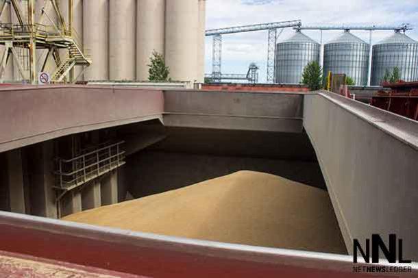 Grain compartment onboard the Algoma Equinox