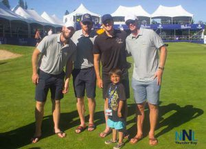 The Staal brothers were tireless at the tournament taking time to meet and greet fans of all ages.