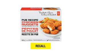 President-s Choice Pub Recipe Chicken Nuggets subject to recall