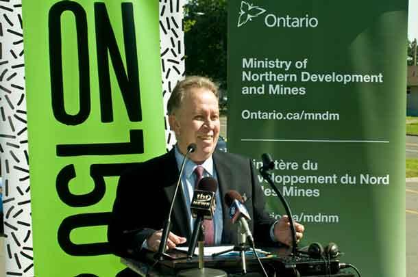 Minister Michael Gravelle announces program to build an environmental legacy
