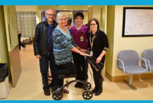 Pictured are (l-r), Phil and Kristine Cameron, who donated a knee scooter to be used in the Surgical Day Care unit of the Hospital, along with Deb McCormack, Registered Nurse and Christine Erickson, Perioperative Manager. Phil, Kristine, Deb McCormack and Christine Erickson