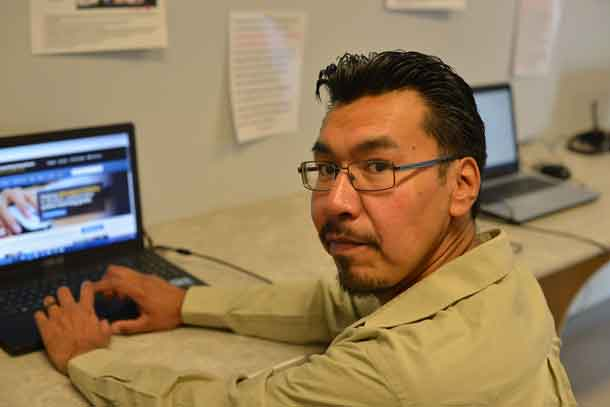 Joshane Fiddler, online learner, Sandy Lake First Nation