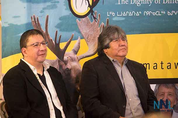 Darius Ferris and David Paul Achneepineksum from Matawa First Nation Management