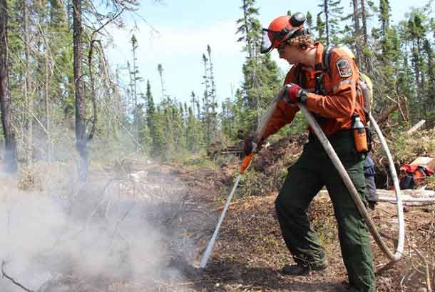 FireRangers continue to douse hotspots on Nipigon Fire Number 099.